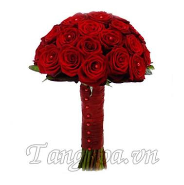 Cách bó hoa hồng 17