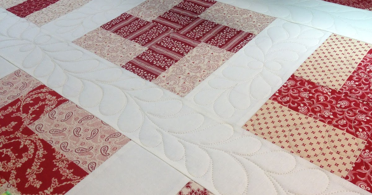 My red door designs red and white quilt for Red door design quilts