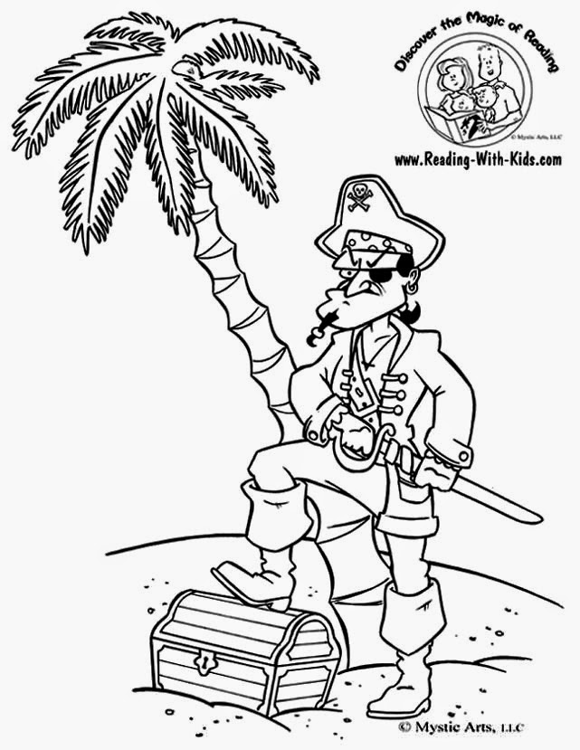 Treasure Chest Coloring Page