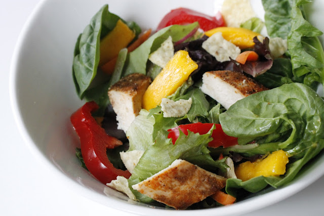 Of Little My: Chicken Mango Salad With Tortilla Chips and Attitude