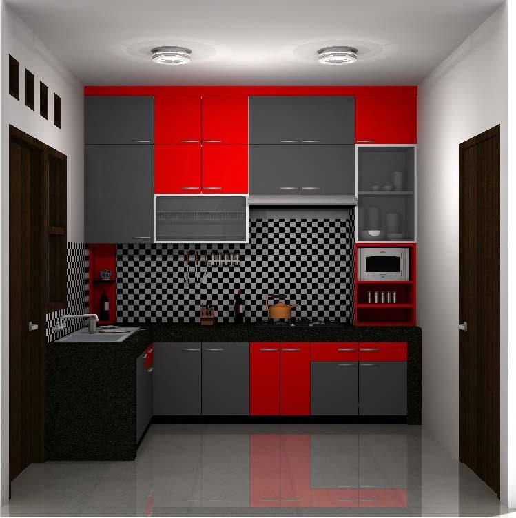 Desain kitchen set minimalis eksekutif jual kitchen set for Biaya membuat kitchen set