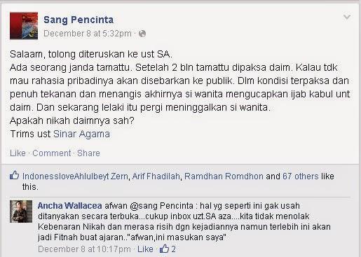 Syiah Indonesia Sudah Terbiasa Mutah