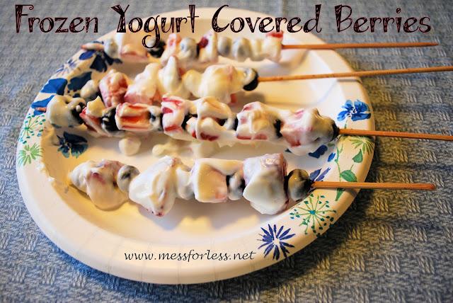 Frozen Yogurt Covered Berries