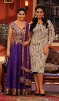 Madhuri Dixit & Huma promote 'Dedh Ishqiya' on Comedy Nights with Kapil