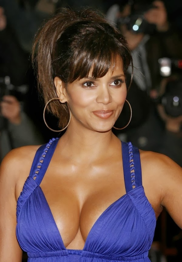 Halle Berry in a blue dress, top ten best Halle Berry Pic