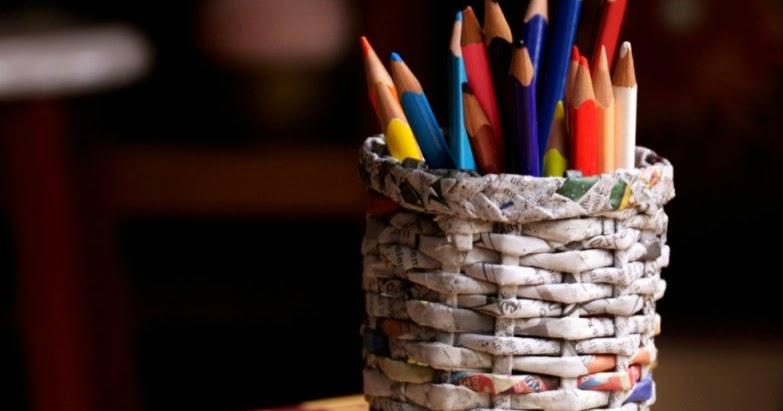 Kerajinan tangan dari kertas - tempat pinsil  Guru Madrasah Blog