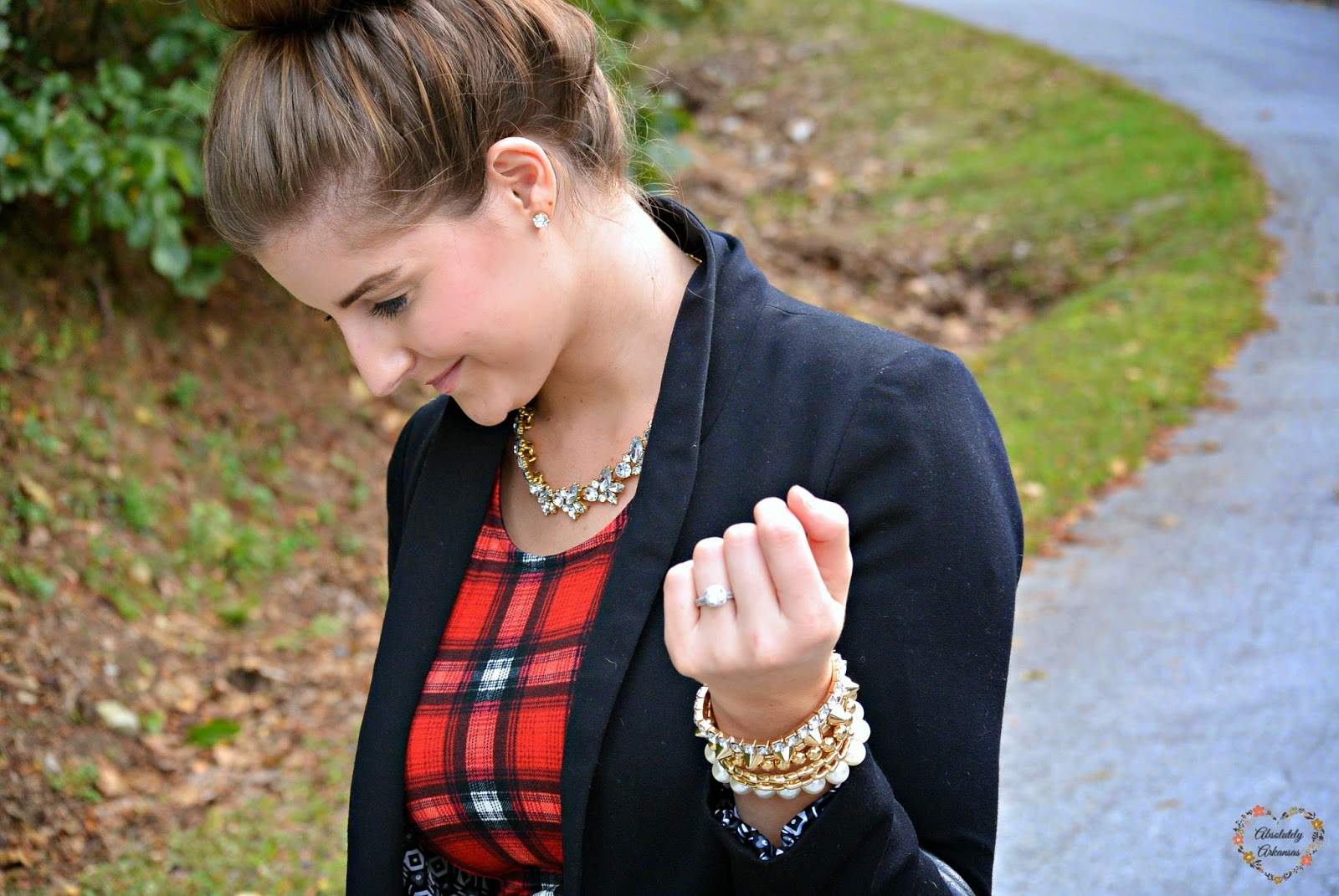 black blazer over dress