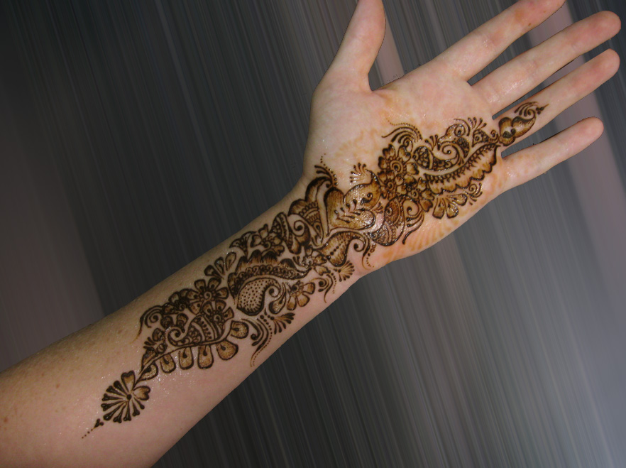 Mehndi Designs New Simple : Christmas simple mehndi designs henna style