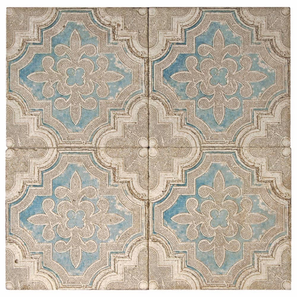Altalena Pattern Tile Turquoise