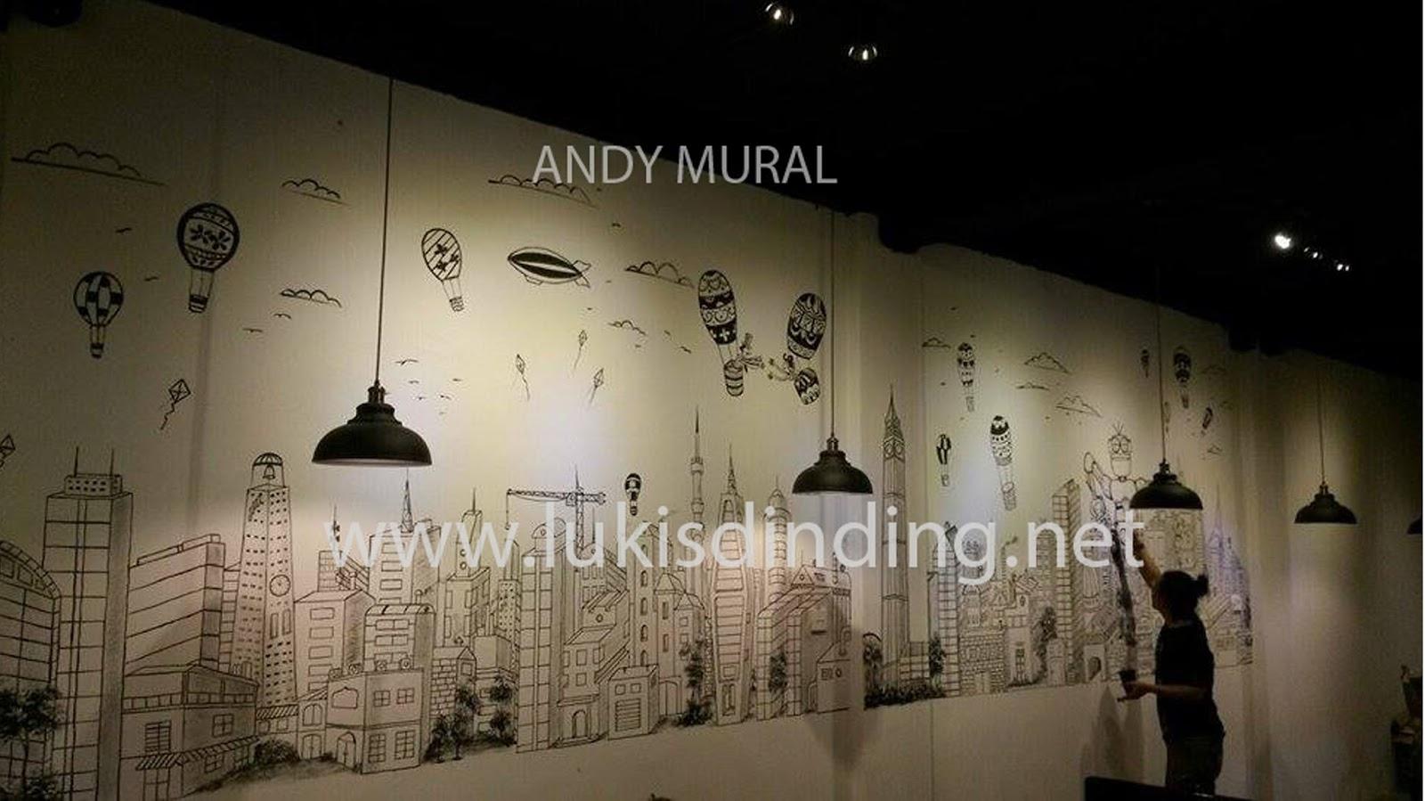 Mural lukis dinding cafe konsep freedom cocok untuk for Mural untuk cafe