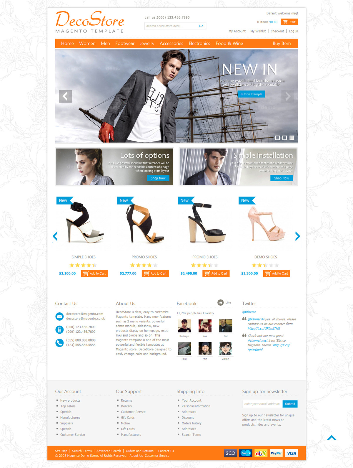 Ecommerce Decostore Magento Template