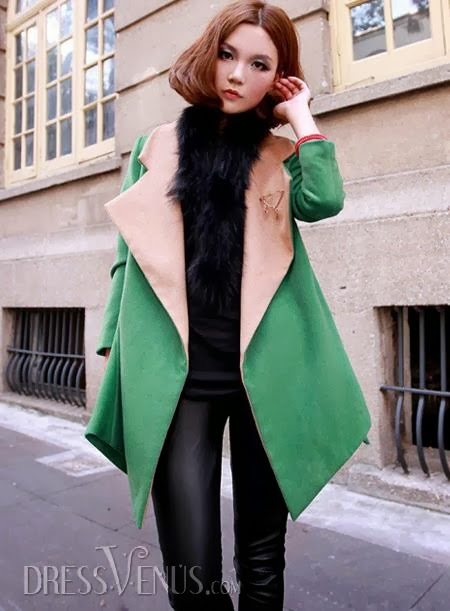 Vogue Elegant Noble Long Sleeves New Arrival Overcoat
