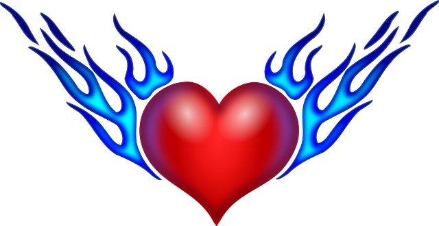 Dibujos para colorear de corazones con alas chidos - Imagui