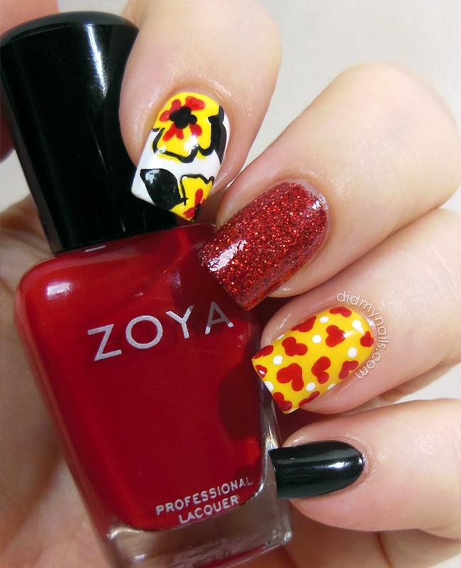Valentine composite manicure