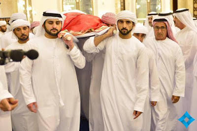 Burial photos of prince of Dubai, Sheikh Rashid bin Mohammed bin Rashid Al Maktoum.