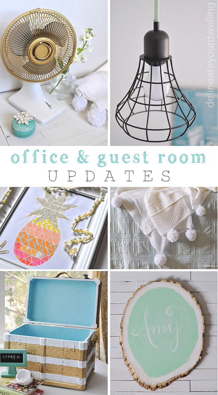 Office + Guest Room updates, Delineate Your Dwelling #office #makeover #redo