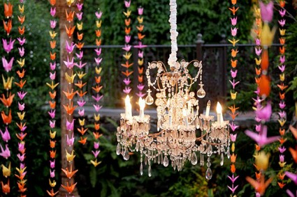 Saucer of Sunshine: Hanging Wedding Decor