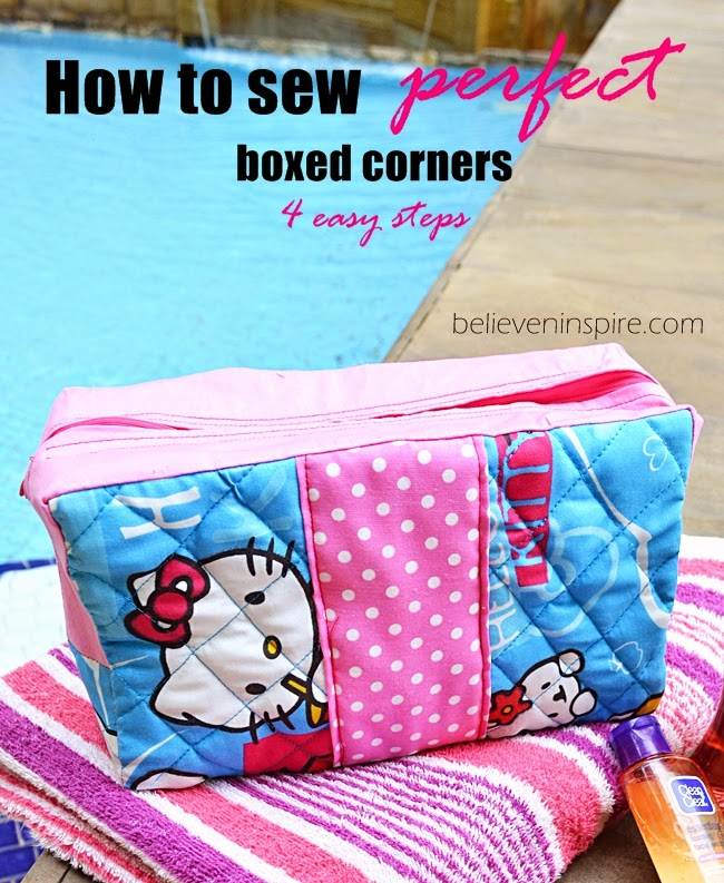 Tutorial to Sew Box Corners