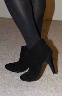 Banana Republic suede black booties