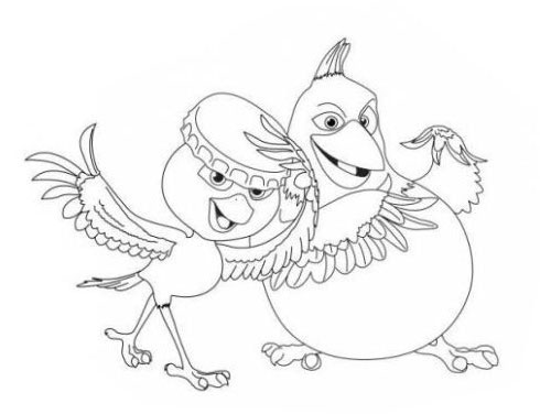 Kids Under 7: RIO Coloring Pages
