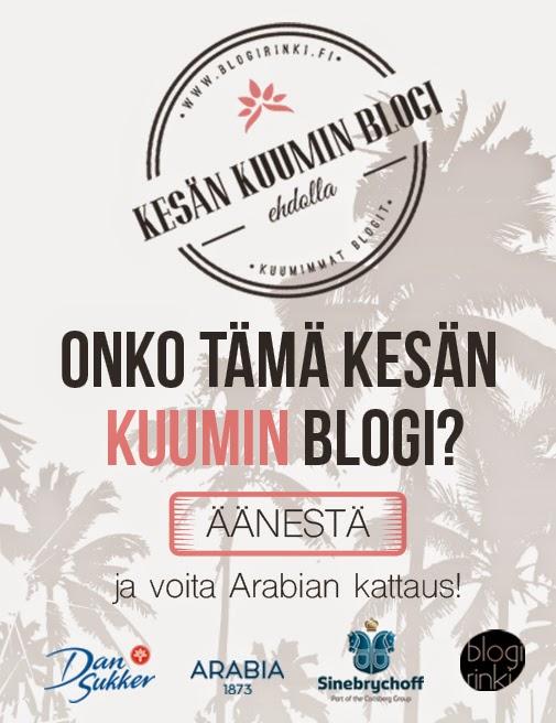 Äänestä kesän kuuminta blogia!