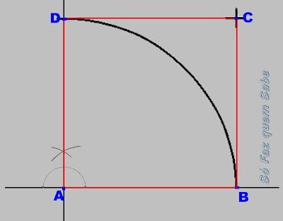 Traçando os dois últimos lados do quadrado.