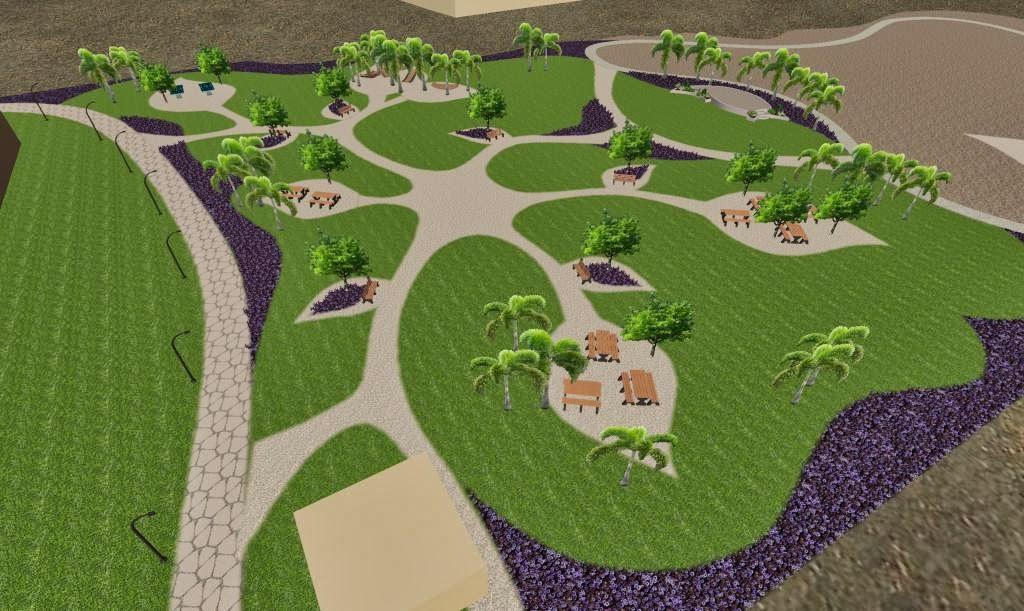 diseño de parque conceptual vista aerea 1