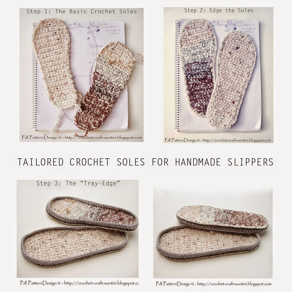Crochet Baby Shoes Sole Pattern : Sophie and Me: TAILORED CROCHET SOLES FOR SLIPPERS