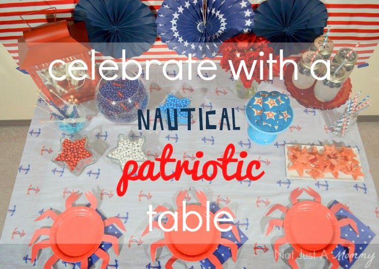 How to create a nautical patriotic table