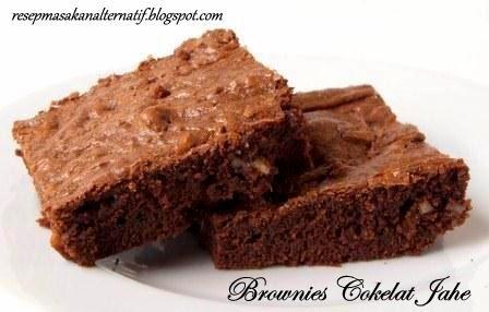 Resep dan Cara Membuat Brownies Cokelat Jahe Panggang Praktis