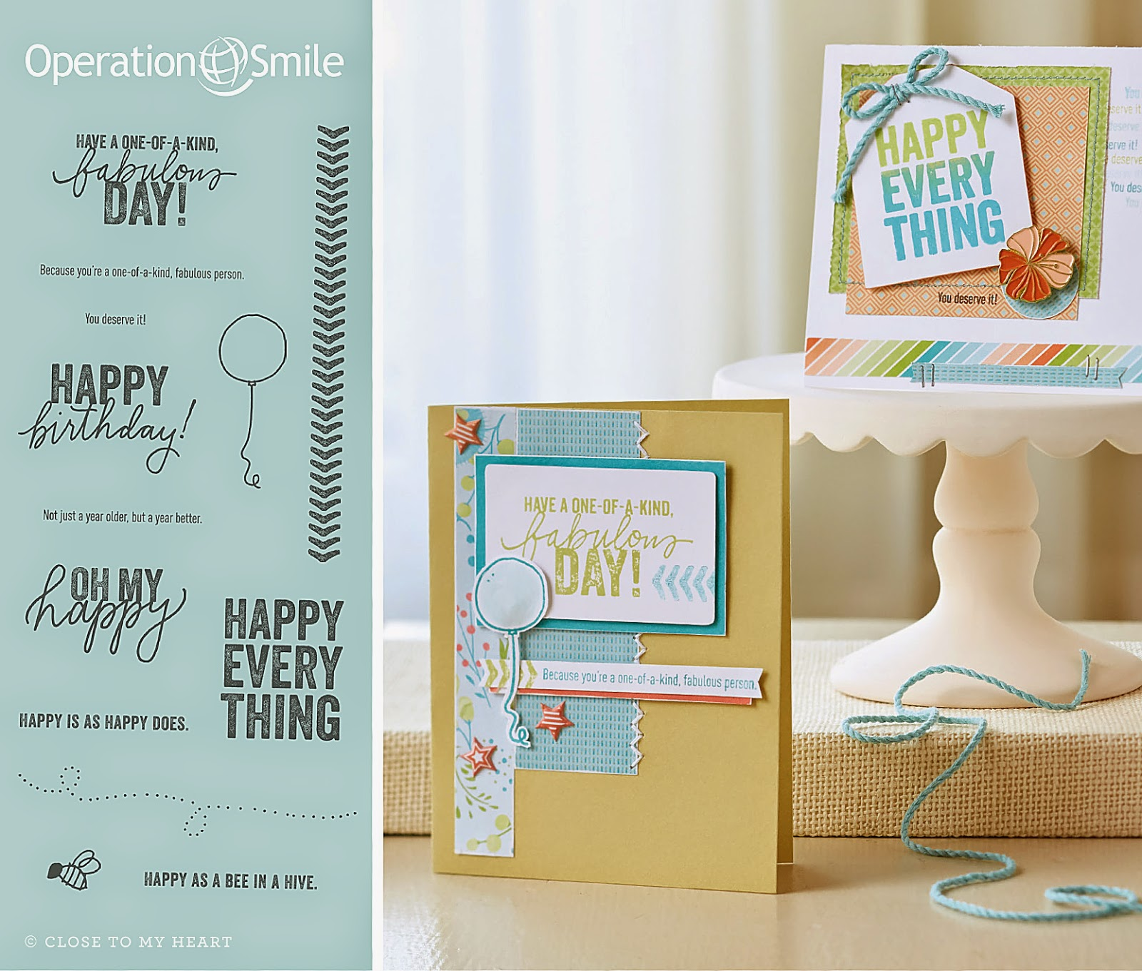 CTMH Operation Smile Stamp Set