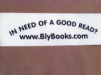 book promotion - Bly Books bumper sticker