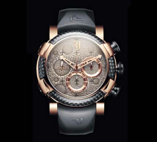 photos of Romain Jerome's Moon Dust Red Mood Chrono watches