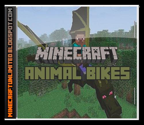 Animal Bikes Mod Minecraft carátula