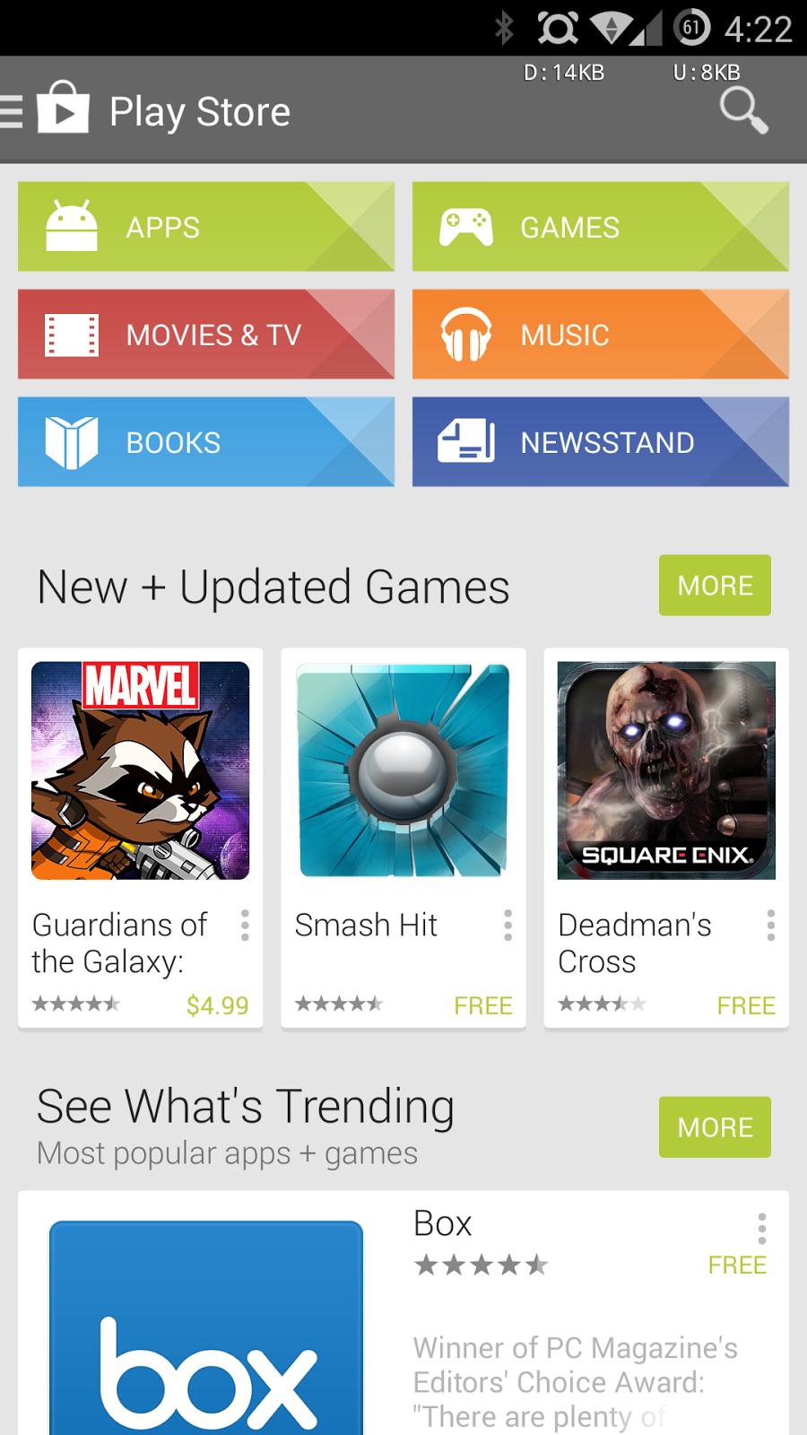 Halaman Awal Play Store Terbaru
