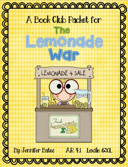 Club packet this one is for the lemonade war by jacqueline davies