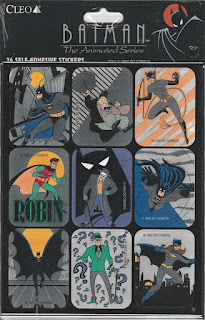 Batman the Animated Series stickers from 1992