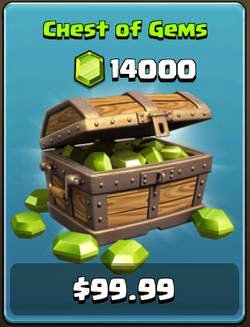 Gems Box Clash of Clans Gratsi