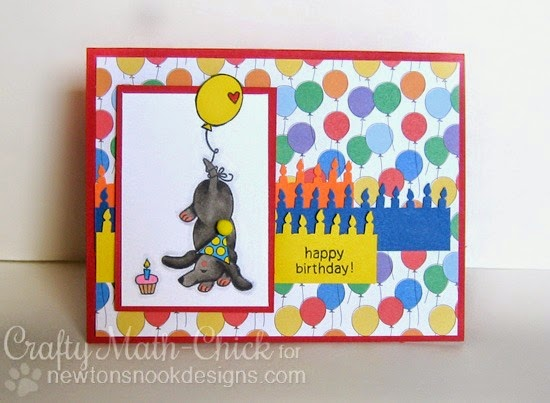 Happy Birthday Card by Crafty Math Chick | Delightful Doxies Stamp set by Newton's Nook Designs