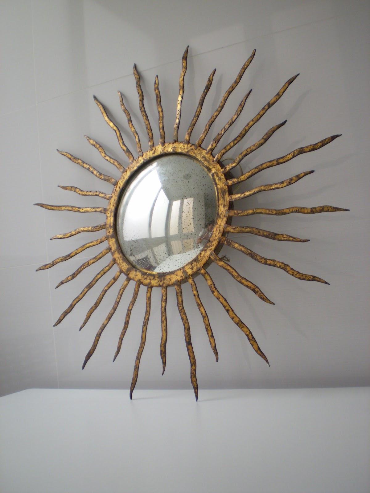 Vintager a espejo lampara de techo o aplique de pared en - Espejos con forma de sol ...