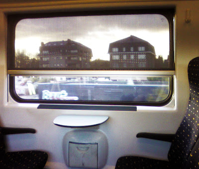is it a marina? is it tv? is it a train window?