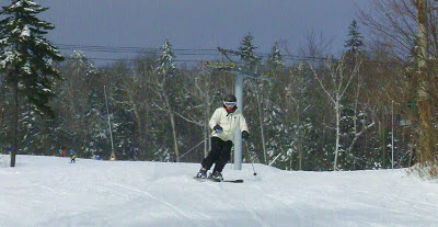 Beth skiing Sunway at Gore Mountain, Sunday morning, 12/23/2012.