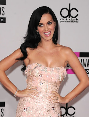 Katy Perry all glammed outfit.