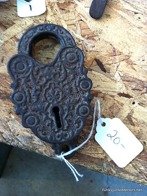 vintage elaborate lock