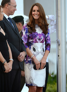 Kate Middleton durante a turnê real para o Sudeste Asiático