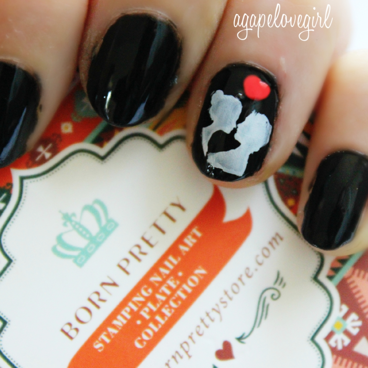 Agape Love Designs: Cameo Silhouette Nails + Born Pretty Store Discount