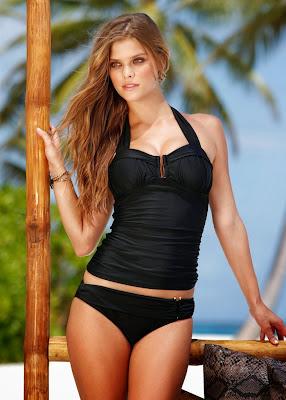 Nina Agdal sexy cleavage BonPrix bikini