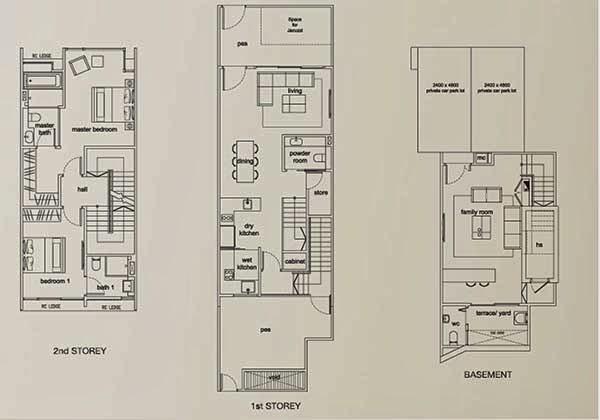 Terra Villas 19a Floor Plans 1 storey