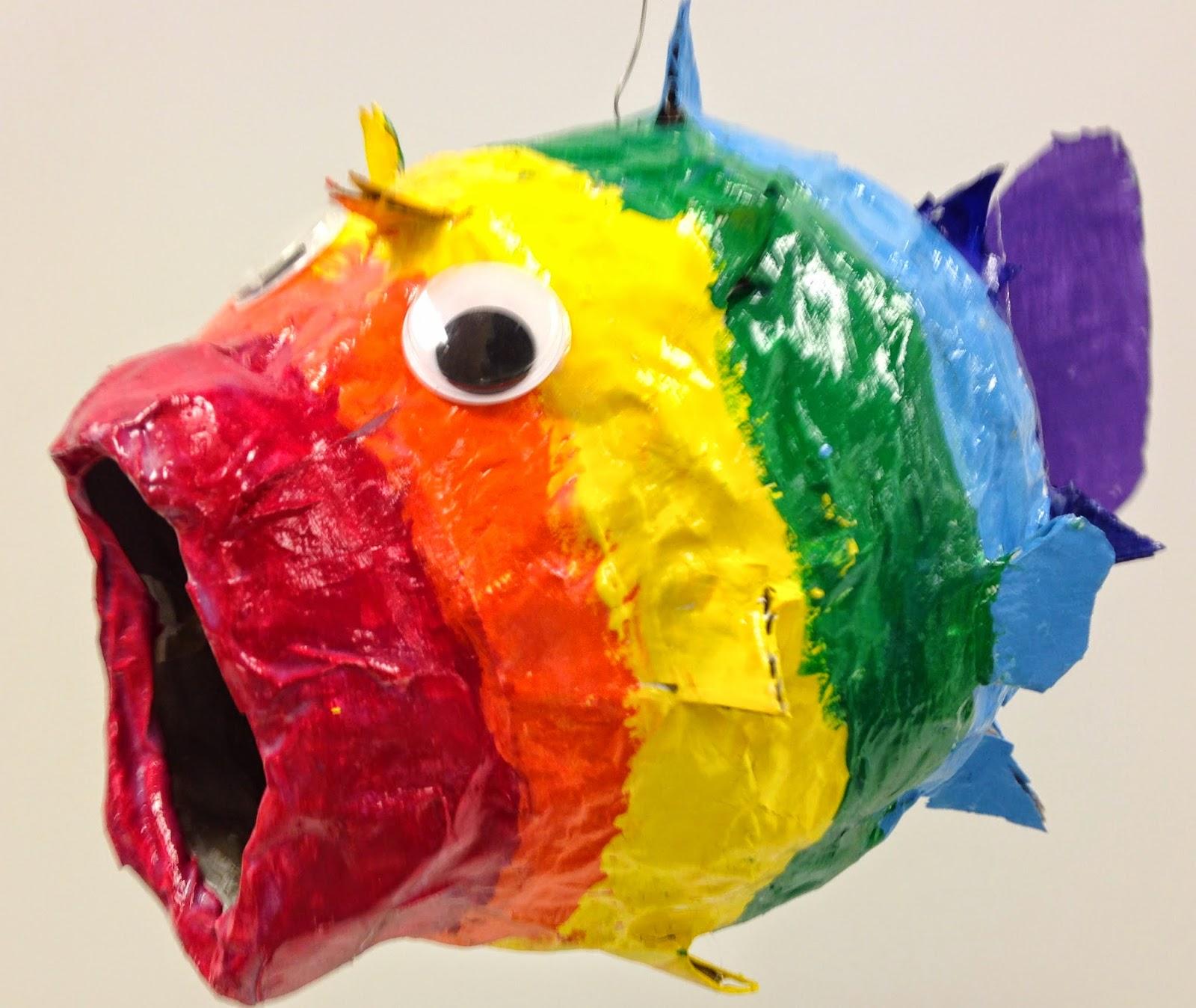 Art Room Blog: Advanced Art Club Paper Mache Fish...