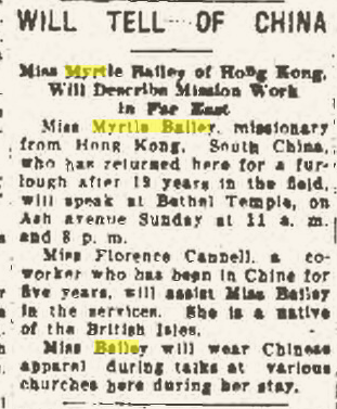 "Climbing My Family Tree: ""Will Tell of China"" Findlay Republican Courier, 14 November 1936, p8"